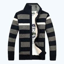 Free Shipping 2017 Warm Thicken fleece inside Cardigans Sweaters Men Winter Sweater Men Slim Casual Dress Knitwear 120