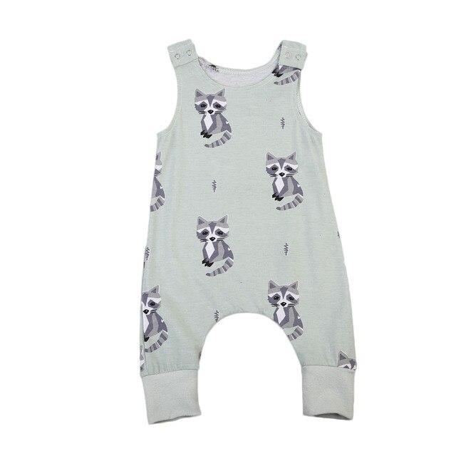 890a048679d6 Pudcoco Cute Newborn Baby Boys Girls Racoon Romper Summer Sleeveless ...