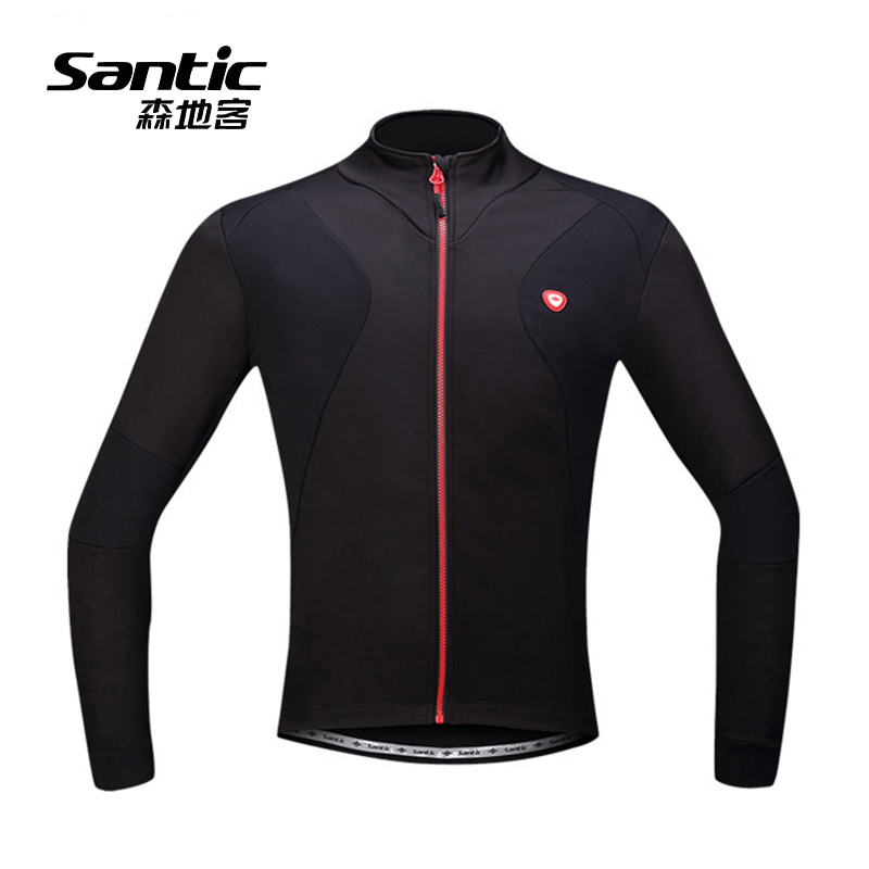 Santic 9 Colors Men Thermal Cycling Jacket Winter Warm Up Bicycle Clothing Windproof Waterproof Sports Coat MTB Bike Jersey 2017 autumn cycling jacket sets waterproof windproof long sleeve bike riding coat jersey suits men women bicycle clothing warm