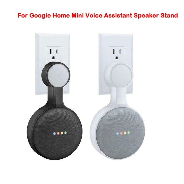 Soporte de suspensión de montaje en pared para Google Home Mini asistente de voz US Plug Home cocina baño dormitorio soporte de altavoz