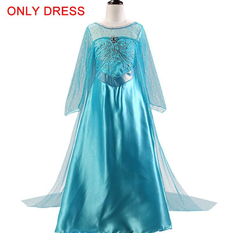 New Elsa Dress Girls Dresses For Girls Princess Cosplay Snow Queen Party Dress Anna Vestidos Elsa Costumes For Children Clothes