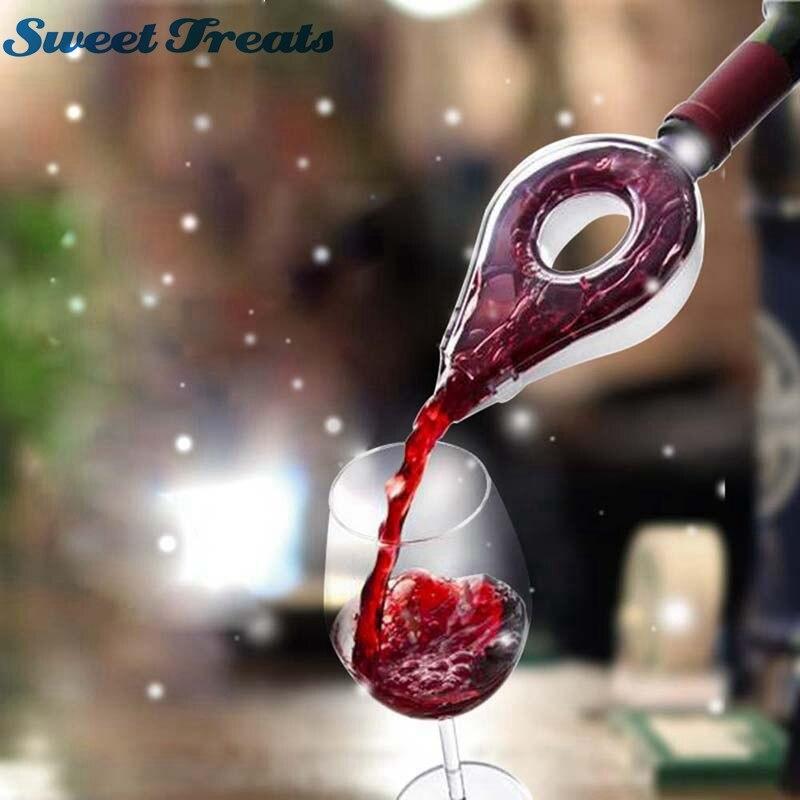 Sweettreats Wein Decanter Magie Decanter Ätherische Wein Schnell Belüfter Gießen Auslauf Decanter Mini Reise Wein Filter