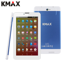 KMAX Tabletas 7 pulgadas IPS Quad Core CPU MTK Tableta Androide 5.1 construido en 3G Llamada de Teléfono de Doble Tarjeta SIM Tablet PC GPS BT Dual cámara