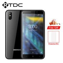 DOOGEE X50 Android 8.1 3G Cep Telefonu MTK6580M Dört Çekirdekli 1 GB RAM 8 GB ROM Çift 5MP kameralar 5.0 2000 mAh Çift SIM OTA Akıllı Telefon