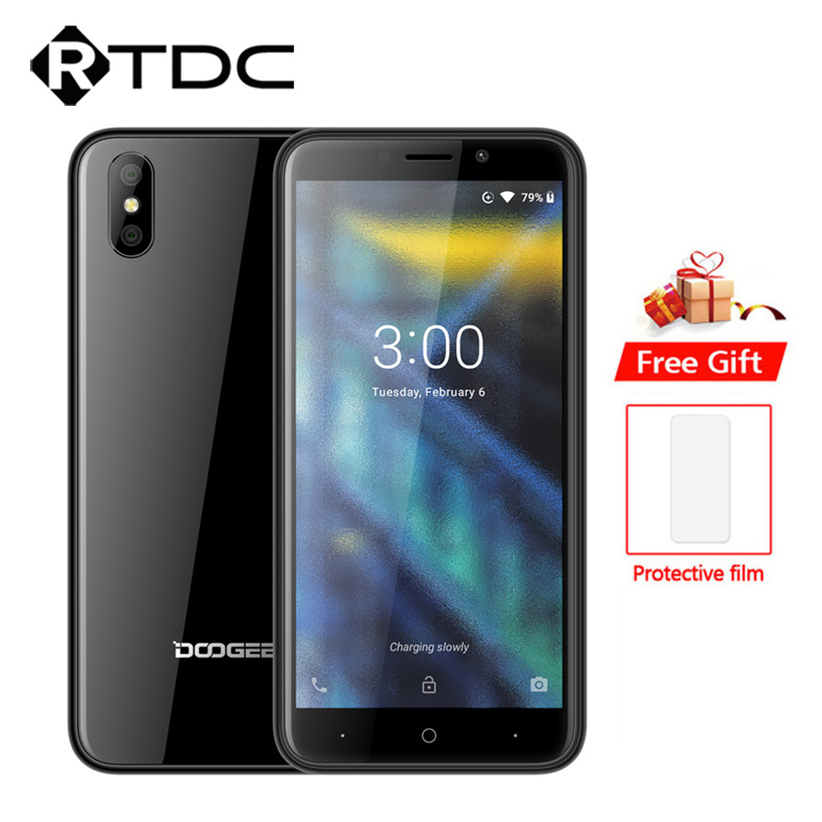 DOOGEE X50 Android 8.1 3G Mobile Phone MTK6580M Quad Core 1GB RAM 8GB ROM Dual 5MP Cameras 5.0'' 2000mAh Dual SIM OTA Smartphone-in Cellphones from Cellphones & Telecommunications    1