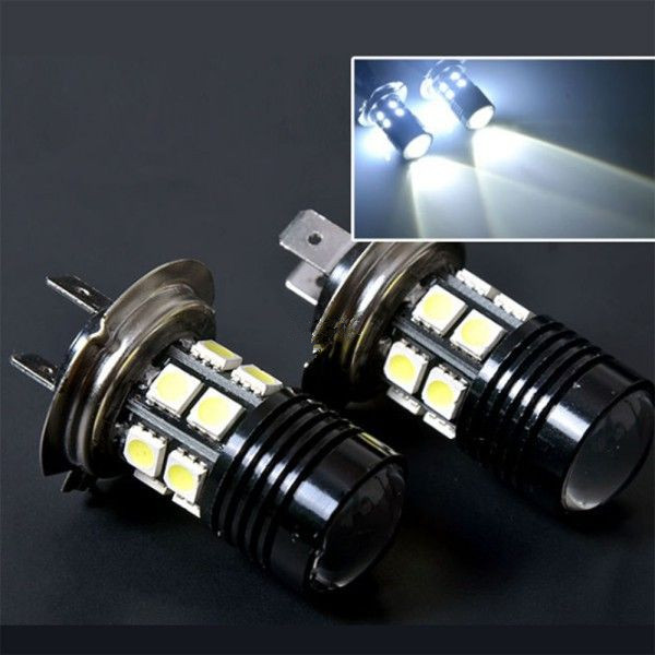 2X 12V LED H7 Xenon Super White lampada ampoule Cree 12 SMD 5050 Fog Light Daytime Running Light ...