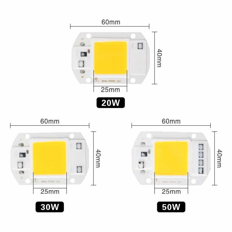 Attuso светодиодный чип COB 10 Вт 20 Вт 30 Вт 50 Вт 220 В 110 В вход Смарт IC драйвер подходит для DIY светодиодный прожектор