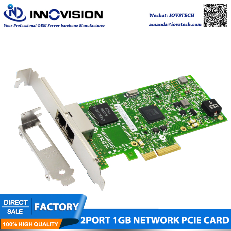 High stability PCIE intel I350 AM2 dual Gigabit LAN server NIC Gigabit Ethernet port Expansion Card