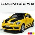 Mejor venta, especial 1:32 modelo de juguete de aleación de coche de vuelta Completa, funde car juguetes, escarabajo GSR Modelo, envío libre