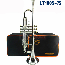 Brand Bach LT180S-72 Silver Plated Surface Trumpet Small Brass Professional Senior Students Musical Instrument Trompeta