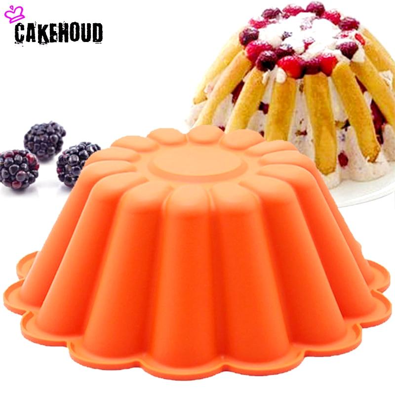 CKEHOUD 8 pulgadas de silicona flor francesa Gasa pastel de molde - Cocina, comedor y bar