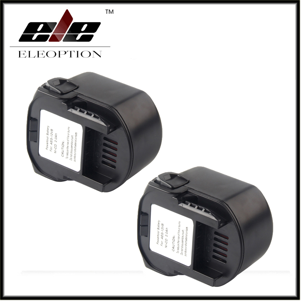 2x Eleoption Power Tool Battery AEG 12V 2000mAh 2.0 Ah Ni-CD For B1214G,B1215R,B1220R,M1230R,BS12G,BS12X,BSB12G,BSB12STX,BSS12RW trendy halter solid color one piece swimwear for women