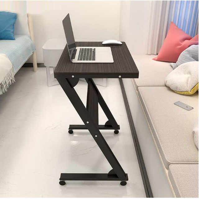 250633 Sofa Side Stand Up And Down Movable Bedside Table Simple Lazy Laptop Bed With Desk