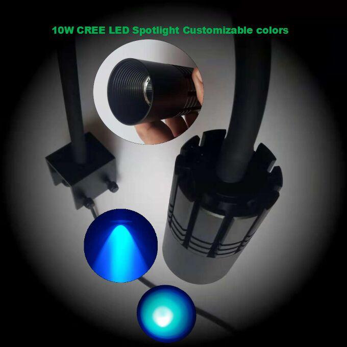 CREE XPE lumière LED d'aquarium lampe de pince de réservoir de poisson bricolage LED lampe d'agrafe de lumière de tache pour le récif de corail marin de poissons SPS LPS