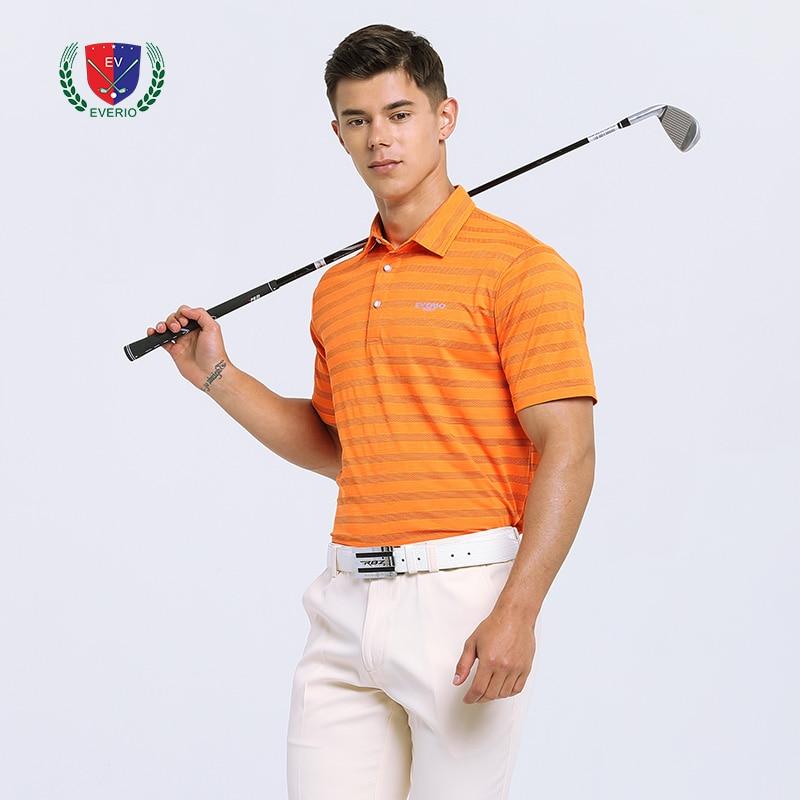 T-shirt de golf d'été pour hommes POLO de golf à trou de combustion hauts à séchage rapide
