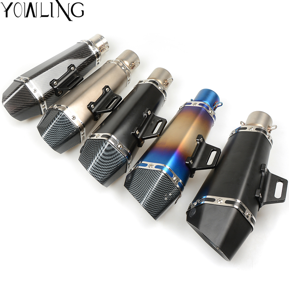 Universal Modified Escape Moto Exhaust Motorcycle Scooter Dirt Bike Muffler Pipe YZF600 R6 YZF1000 R1 TMAX 530 500 tmax500 XP530