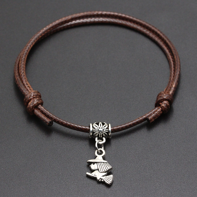 2020 New Cute Magician Pendant Red Thread String Bracelet Lucky Black Coffee Handmade Rope Bracelet for Women Men Jewelry