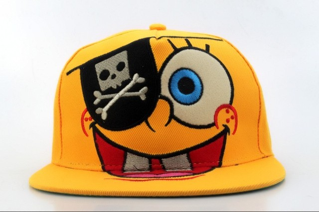 0a11ef599569c 2015 New design SpongeBob Snapbacks caps for men women casual adjustable  cartoon snap back hats for adult sun Hat Free shipping