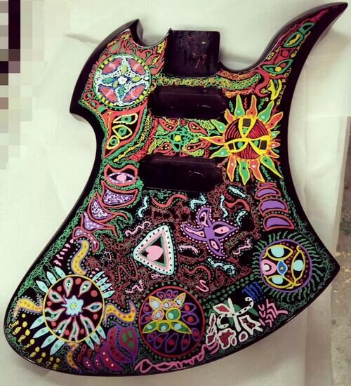 hand paint guitar body diy paint guitar body in guitar parts accessories from sports. Black Bedroom Furniture Sets. Home Design Ideas