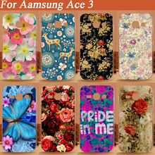 DIY Rose Pattern Case For Samsung Ace 3 7270 7272 7273/ Beautiful Flower Painting Case For Samsung Ace 3 7270 7272 7273