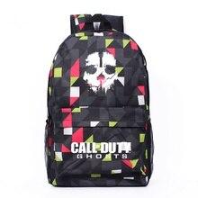 Neue Fashion Call Of Duty Ghosts Plaid Rucksack Jungen Schultaschen Für Jugendliche Game Leinwand Rucksäcke Casual Täglichen Rucksack