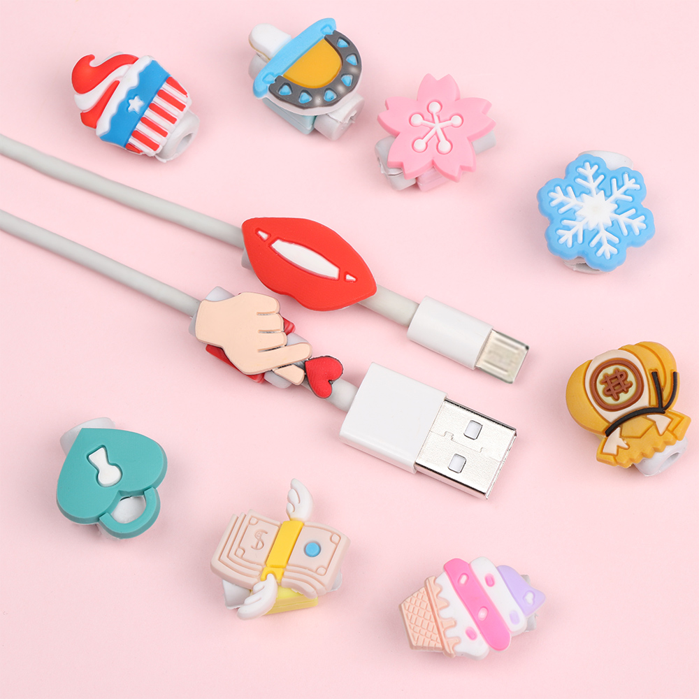 New Cable Protector Bobbin Winder Popular Data Line Case Cute Fashion Accessories For IPhone Android USB Earphone Charging Cable