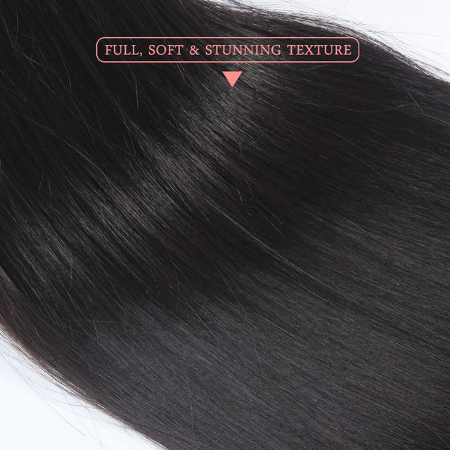 Lot 10 Indian Straight Virgin Hair Bundles 100% Human Hair Extensions