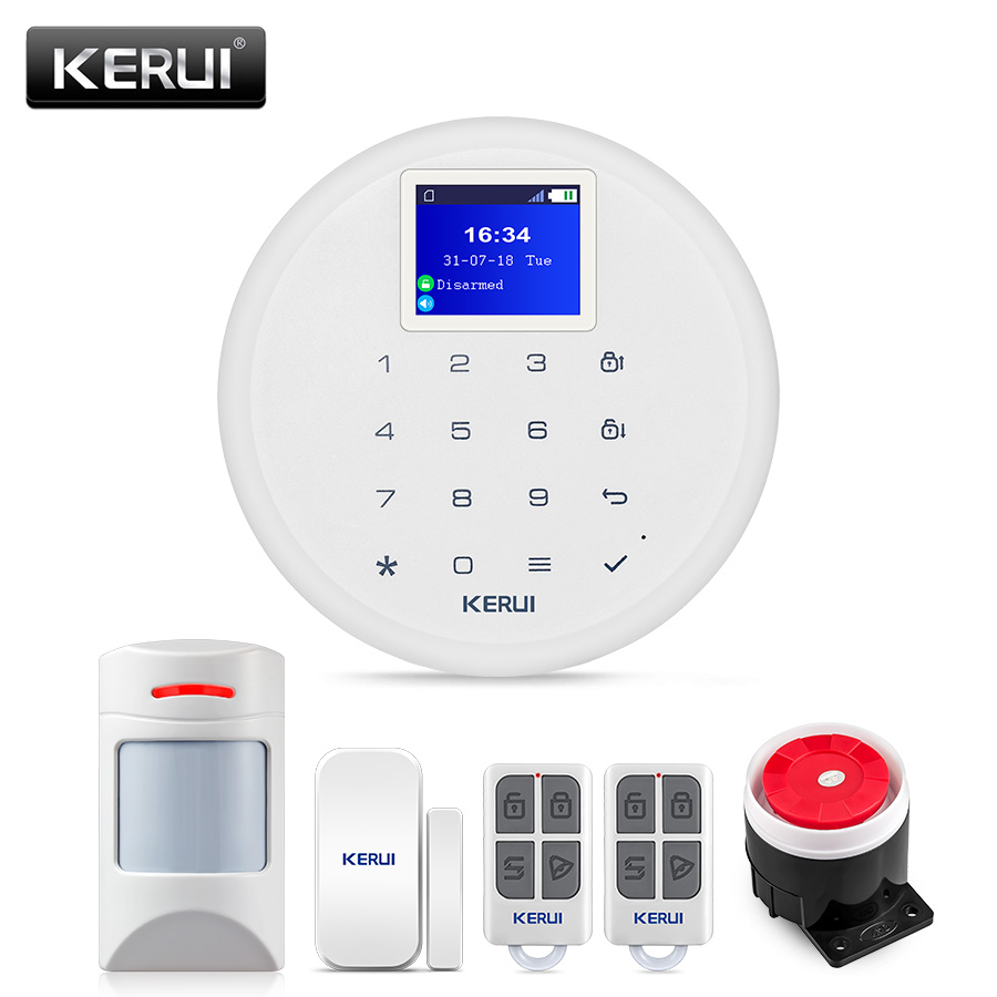 New KERUI W17 EN RU ES DE IT FR Switchable GSM Wifi Alarm System With Anti-Pet PIR Sensor Detector Friendly With Pet Dog And Cat