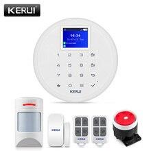 Nouveau système dalarme Wifi GSM commutable KERUI W17 EN RU ES FR avec détecteur DE capteur Anti Pet PIR amical avec chien et chat