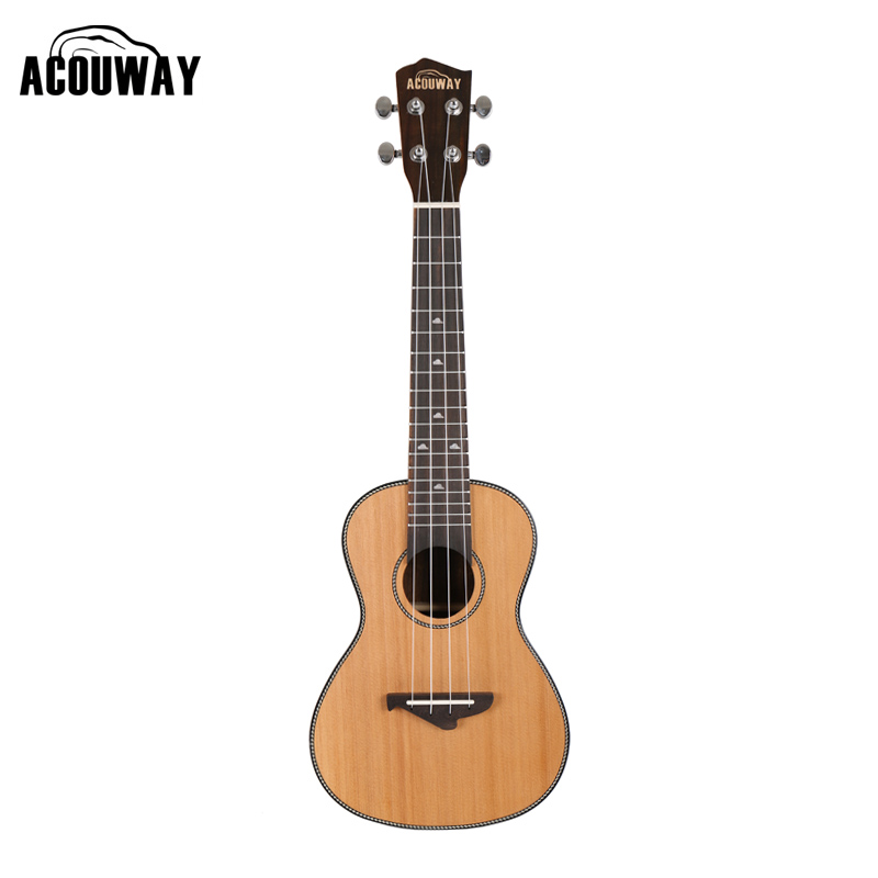 Acouway Ukulele 21 24 26 inch Ukulele Soprano Concert Tenor Ukulele solid spruce top uku Ukelele Hawaii guitarMusical Instrument 12mm waterproof soprano concert ukulele bag case backpack 23 24 26 inch ukelele beige mini guitar accessories gig pu leather