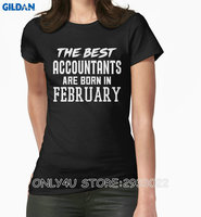 Gildan Only4U Tailored Shirts Short Sleeve Top O Neck Womens The Best Accountants Are Born In