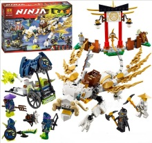 Bela Ninjagoes Master WU Dragon Aeroblade temple Building Block Set Cole Soul Archer Hackler Minifigures legoe 70734 Compatible