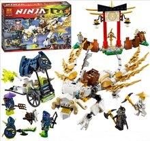 Bela Ninjagoes Master WU Dragon Aeroblade temple Building Block Set Cole Soul Archer Hackler Minifigures legoe