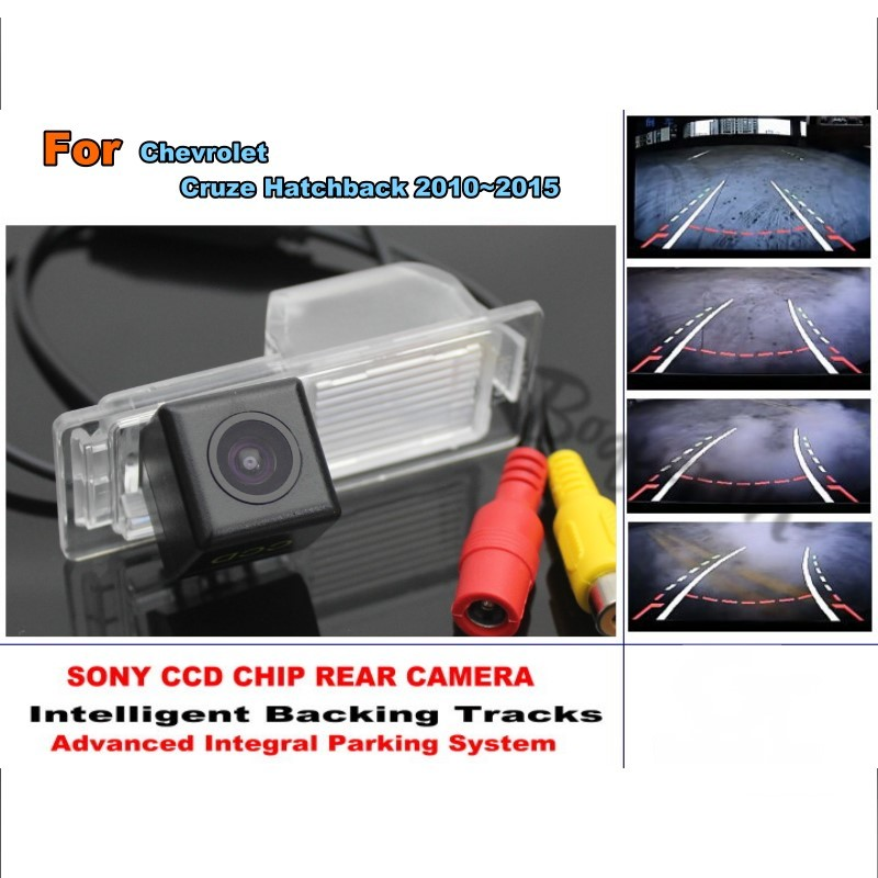 For Chevrolet Cruze Hatchback 2010~2015 HD CCD Smart Tracks Chip Camera Intelligent Dynamic Parking Car Rear View Camera for mazda cx 3 cx 3 cx3 2014 2015 smart tracks chip camera hd ccd intelligent dynamic parking car rear view camera