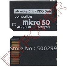 Micro SD TF to Memory Stick MS Pro Duo Card Adapter By Free Shipping; 100pcs/lot