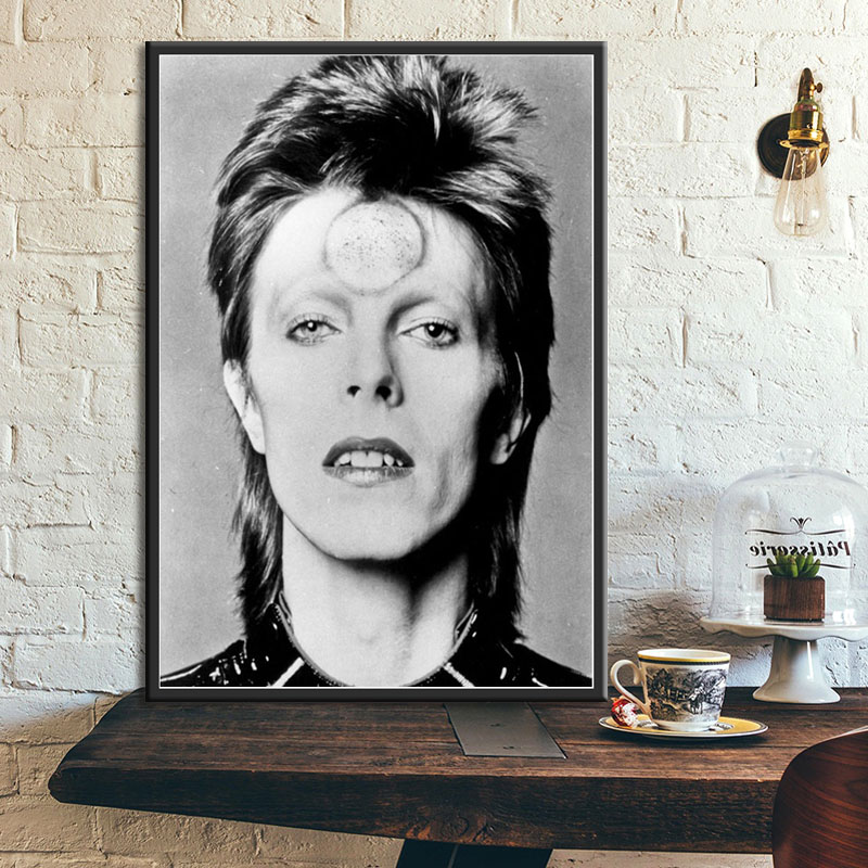 David Bowie Black White Music Band Singer Star Painting Poster Wall Art Picture Prints Canvas Living Home Room Decor 50x70cm unframed