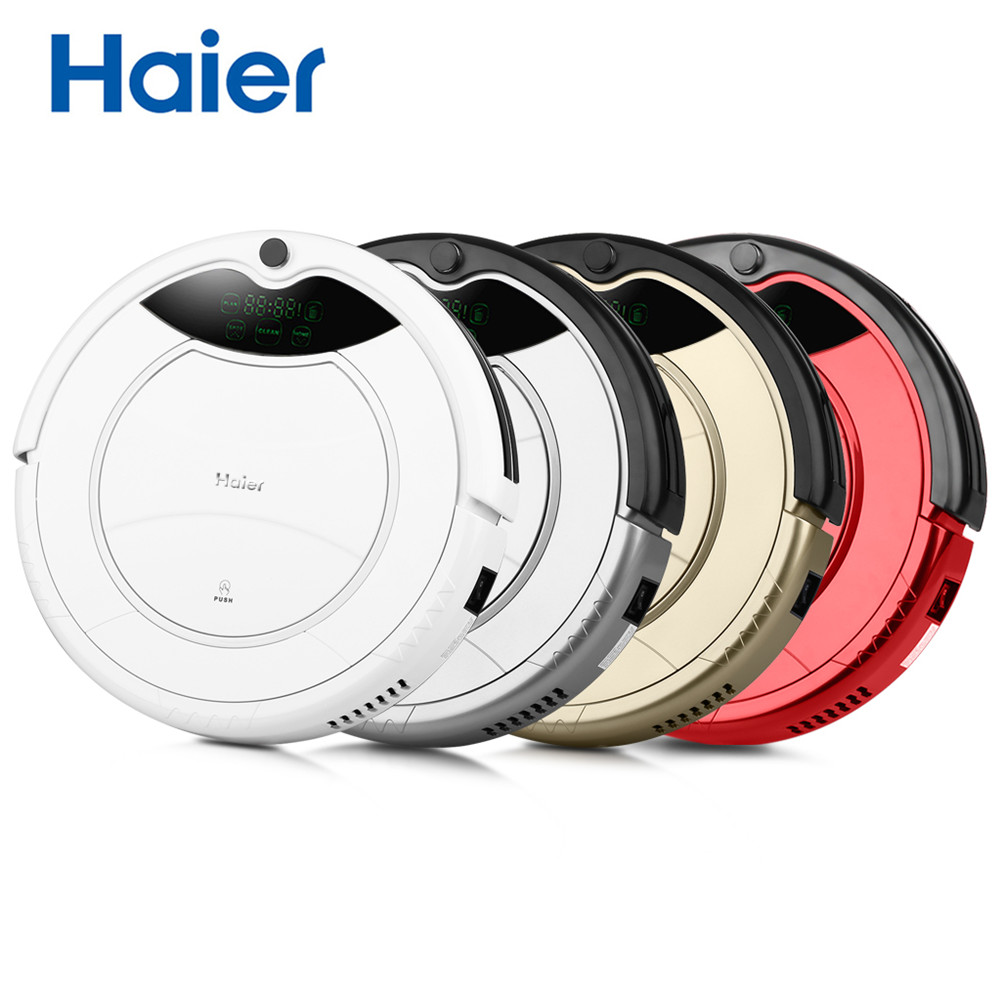Haier Vacuum Cleaner Smart Robot Vacuum Cleaner Automatic Sweeping Machine With Wet And Dry Function For Home 5cm thin intelligent sweeping robot for home automatic vacuum cleaner soft collision and protecting the furniture