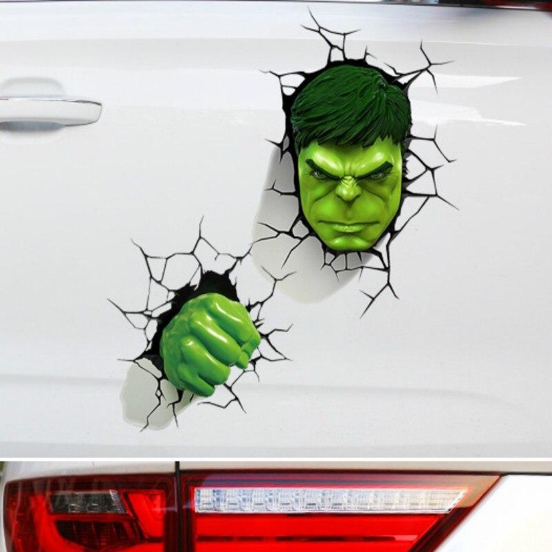 Наклейки серии «Мистер чай» с супергероями, наклейки, 3D сломанные наклейки для автомобиля, милые Креативные зеленые наклейки, украшения