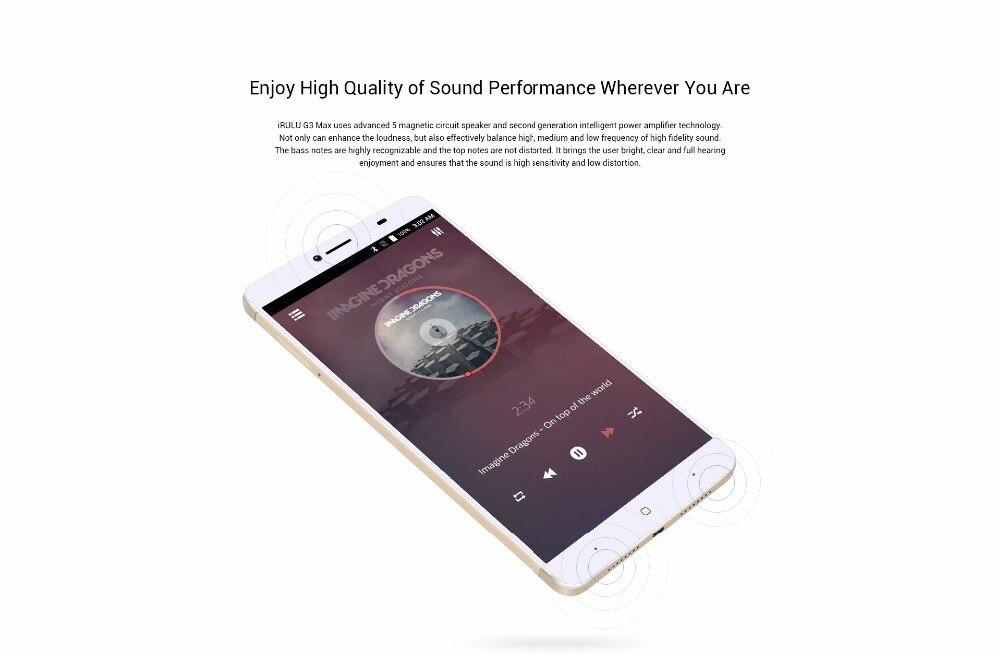 iRULU GeoKing 3 Max Smartphone Android 7 0 MTK6750T Octa