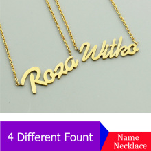 Personalized Name Necklace Custom Plate Necklace, Daily Jewelry Gift for Her Valentines Mothers Day