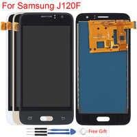 SM-J120F LCD AMOLED pour Samsung Galaxy J1 2016 écran LCD J120 J120M J120F J120H affichage luminosité de l'écran tactile réglable