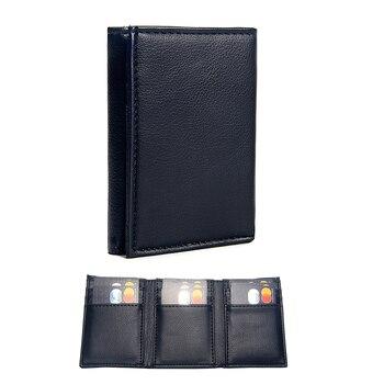 Δερμάτινο luxuri πορτοφόλι σε μαύρο και καφέ χρώμα.