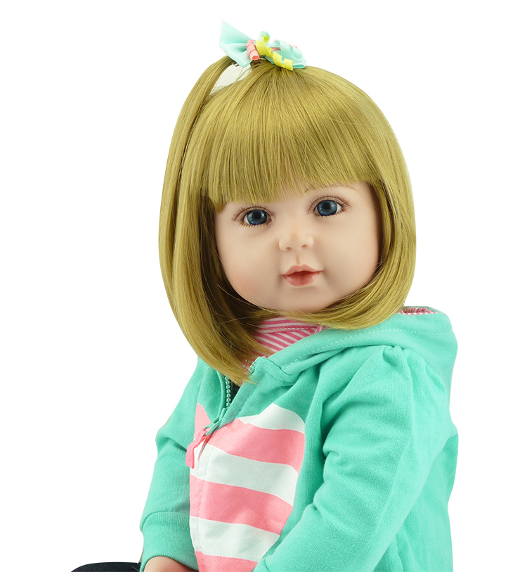 Bebe Blonde Girl Doll Reborn 22 Quot Cloth Body Silicone