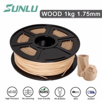 wood new free ship Sunlu 3D Printer Filament Wooden 1.75mm 1KG/2.2LB with Spool Similar with PLA for Printing Wooden Effect