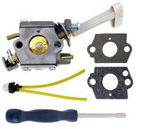 New Carburetor with Choke Lever + Adjusting Tool + Mounting Gasket Primer Bulb Fuel Line for Ryobi RY08420 RY08420A Backpack