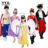Little Girls Boy Cute Snow Angel Princess Costumes Halloween Party Dress Pirate Clothes Kids Girl Children