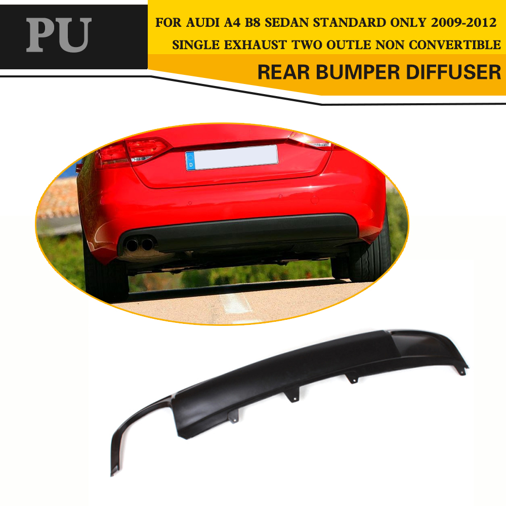 Black PU Primer Car Rear Bumper Lip Diffuser For Audi A4 B8 Standard Sedan 4 Door Only 09-12 only a promise