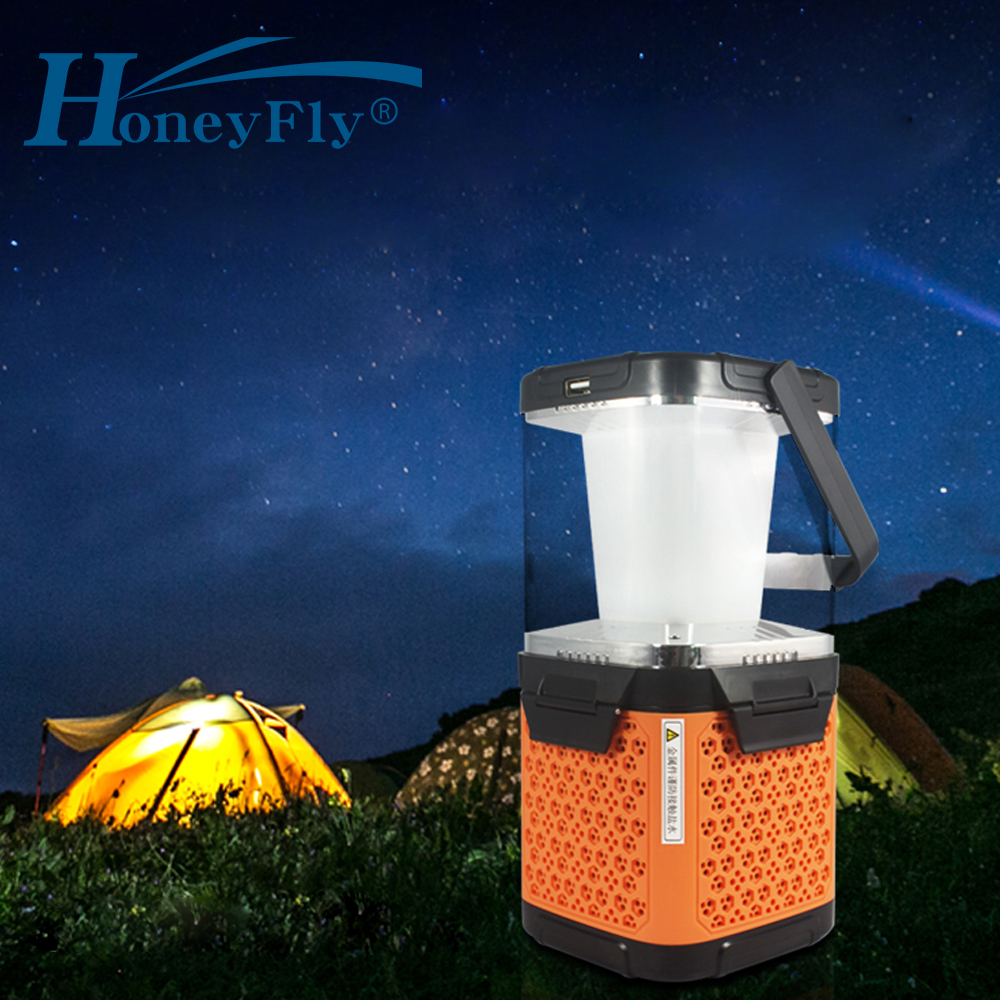 HoneyFly Salt Water LED Lamp Lantern 4W Brine Charging Sea Water Portable Travel Light Emergency Lamp USB Camping Hiking Outdoor