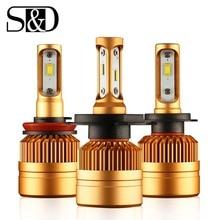 2 個 H7 H1 H4 led H3 H11 H8 H9 H27 880 881 9005 9006 HB3 HB4 led ヘッドライト電球 1515 チップで 12 v 車のライトの自動ヘッドランプ