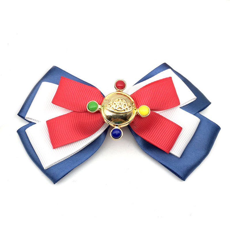 Anime Sailor Moon Ribbon Bowknot Hairpin Hair Alligator Clip Fabric Cute Women Girls Ladies Cosplay Jewelry Accessories 2018